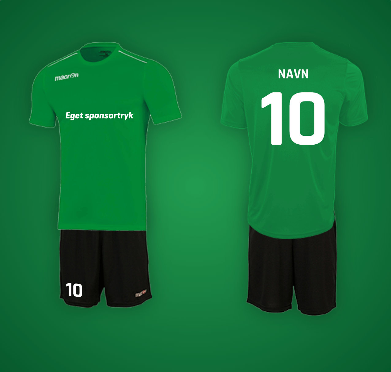 macron rigel grønt fodboldsæt